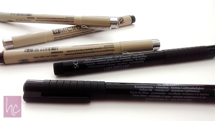 Micron & Faber-Castell Pens